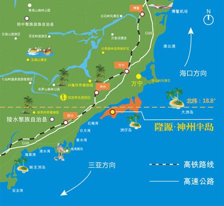万宁神州半岛地图