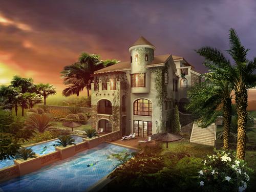 申亚翡翠谷3期中式古典别墅图片