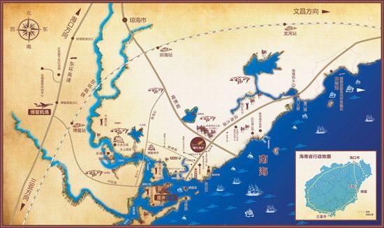 琼海朝阳地图高清版