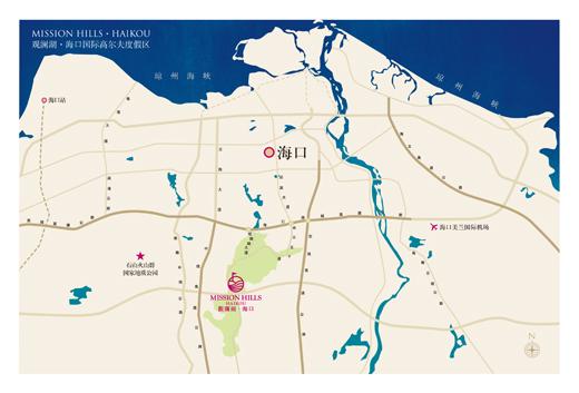 本项目地处海口市观澜湖大道1号,北面紧靠海口绕城高速路,东面连接